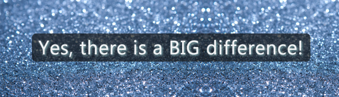 There is a difference between Craft Glitter & Polyester Glitter. This page will help you understand that difference.